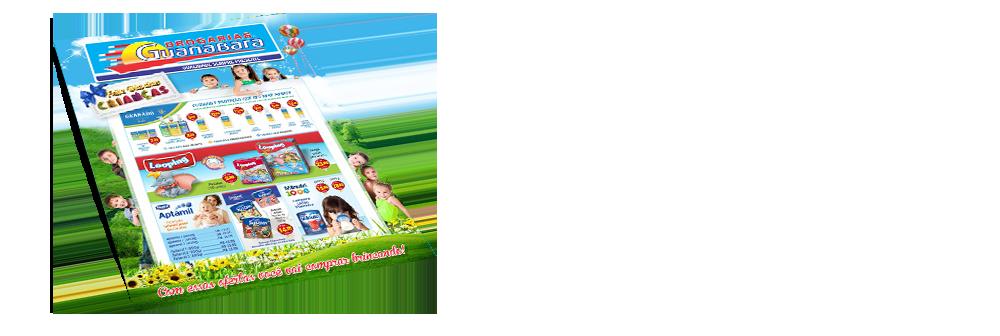 """<h1><font color=""""#334380"""">Encarte Guanabara</font></h1> <p>Encarte de Outubro a Novembro - Mês das  Crianças<br/> Aproveite as ofertas do nosso encarte para você.</p> <a href='http://www.youblisher.com/p/948654-Encarte-Drogarias-Guanabara-Agosto-Setembro-2014/' target=""""_blank""""><img src=""""http://www.drogariasguanabara.com.br/site/wp-content/uploads/2013/07/saibamais.png""""></a>"""